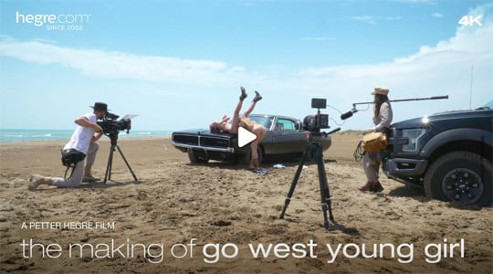 Hegre-art Ariel The Making Of Go West Young Girl