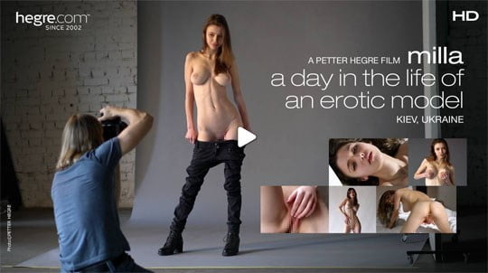 Hegre-art Milla – A day in the life of an erotic model